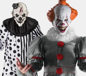 Killerclown-Kostüme für Herren