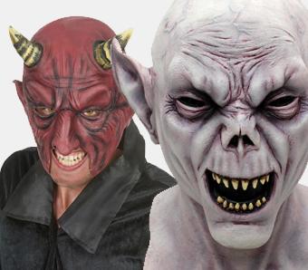 Latexmasken für Halloween