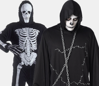 Skelett-Kostüme in großen Größen
