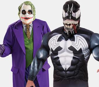 Superhelden-Kostüme in großen Größen