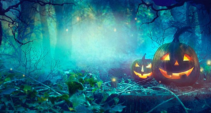 Halloween-Spielidee: Grusel-Parcours durch Wiese und Wald