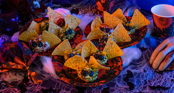 Fledermaus-Häppchen für dein Halloween-Buffet