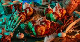 Glasscherben-Muffins: ein veganes Halloween-Rezept