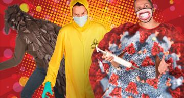 Witzige Ideen für Corona-Kostüme